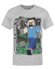 Official Minecraft Vintage Steve T-Shirt - 12-13 Years £2.99 @ Argos ebay (Free C+C)