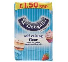 MDougalls 1.25kg Plain and Self Raising Flour 89p @ B&M
