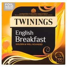Half Price Twinings English Breakfast 100 Teabags 250G at Tesco instore was £4.99 now £2.49