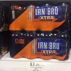 8*330ml can of Irn Bru Extra for £1.25 in Home Bargain in store