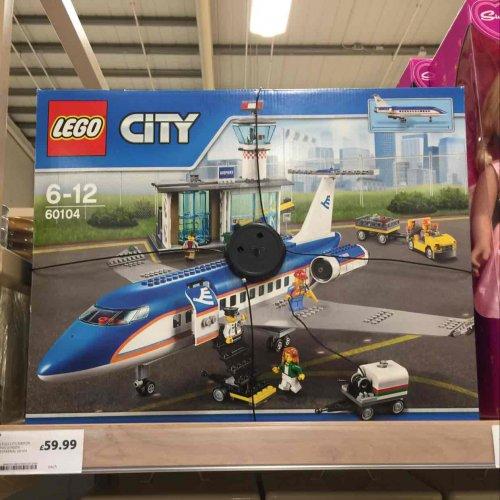 lego city airport passenger terminal 60104 Tesco sale
