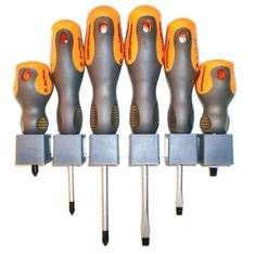HOMEBASE Craftright Soft Grip Screwdriver Set £3.87 - 6 Piece, free click and collect