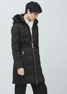 Women's Quilted Feather Coat was £99.99 now £25.99 plus 2.95 delivery or free on orders over 30 @ Mango
