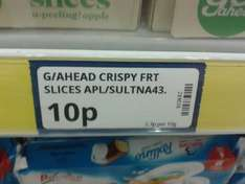 Go Ahead Apple and Sultana Crispy Slices 10p @ Poundstretcher