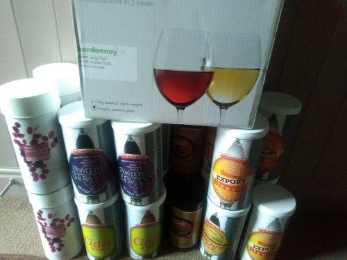 Tesco home brew and wine kits clearance
