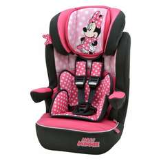 Minnie and Mickey mouse group 1,2,3 car seat, half price £42.25 - Mothercare