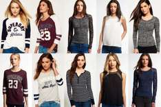 Women's Superdry tops £10.99 each or buy 3 for £27.96 (£9.32 each) @ eBay sold by Superdry