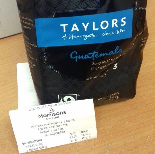 Taylors Guatemala Ground Coffee 227g £1.00 @ Morrisons
