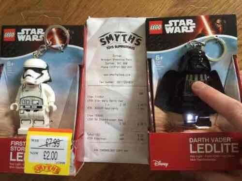 Star Wars Lego LED key rings 2 for £3 or £2 each @ Smyths - Durham Arnison