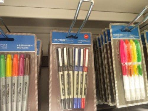 6 Roller Ball pens 99p instore @ Home Bargains