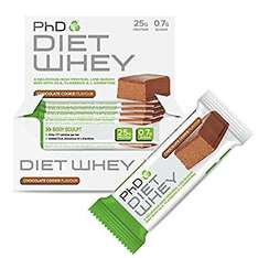 PhD Nutrition Diet Whey Bar, 50 g Pack Of 12 (Various Flavours) - Amazon Deal Of The Day - £11.49 (Prime or add £4.75)