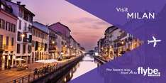 FlyBe: School Summer Hols. Flights London Southend to Milan Malpensa. Lots of dates from £40pp rtn