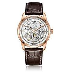 Rotary Men's Automatic Watch with White Dial Analogue Display and Brown Leather Strap GS00656/06 - £77.50 Amazon