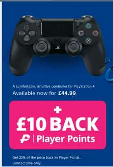 Official Sony Dualshock 4 Jet Black Controller PS4 @ 365Games £44.99 Plus 10,011 player points