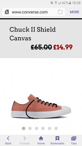Converse chuck ll pink blush less than half price £14.99