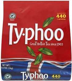 440!!! TEABAGS TY-PHOO One Cup 1kg bag  £3.99 Home Bargains