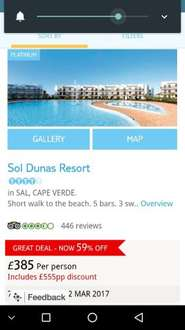Last minute holiday to Cape Verde £385 Thomson Holidays