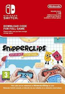 Snipperclips - Cut It Out, Together (Nintendo Switch Download Code) £16.99 Amazon
