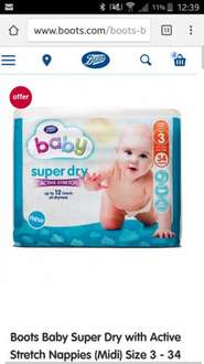 boots nappies glitch - £1.60 for 3 packs with code