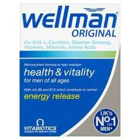 Vitabiotics Wellman Original multivitamin for men 3 for £10.00 @ Asda