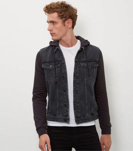 New Look Men's Jersey Sleeve Denim Jacket £7.66 (Prime) / £12.41 (non Prime) at Amazon