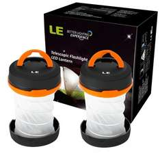 2 Packs Collapsible LED Camping Lantern Flashlight - Sold by NEON Mart and Fulfilled by Amazon - £7.99 With Prime - £11.98 without