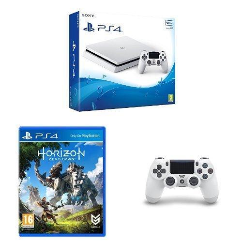 PS4 Slim White + 2nd Controller + Horizon Zero Dawn + 3 Months PS+ £224.99 @ Amazon
