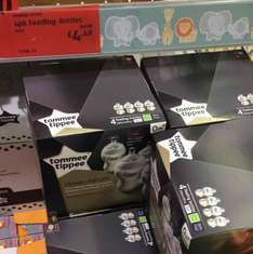Tommee Tippee Bottles 4pk £4.49 - Aldi - consett
