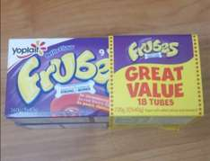 Frubes 18 (×2 packs) in a pack for 75p at Heron foods in Oldham
