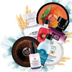 save £10 when you spend £25 in the body shop with o2 Priority