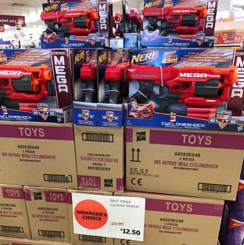 NERF N-Strike Elite Mega CycloneShock Blaster half price £12.50 @ Sainsbury's in store