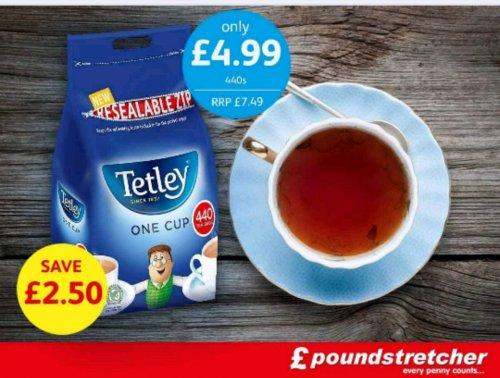 Tetley tea 440 tea bags just £4.99 @ poundstretcher