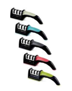 Crofton 3 Stage Knife Sharpener £3.99 +free delivery available to order now and 5 colours to choose from @ ALDI
