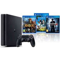 PlayStation Slim 1TB with Horizon Zero Dawn, Knack and Uncharted 4 £249.99 @ Costco