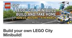 Free Lego city mini build. Smyths. 4th March