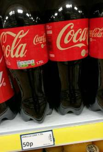 Poundstretcher: Vanilla Coke 1.75l 50p.