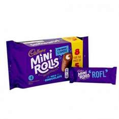 Cadbury Mini Rolls - Milk Chocolate (8 for the price of 5) ONLY 25p @ Poundstretcher