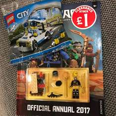 smyths toys, Lego annual 80p (20% off books) comes with a Lego ninjago minifig and a free Lego city poly bag! all for 80p