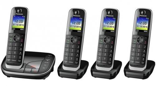 Panasonic KX-TGJ324EB Quad Handset Cordless Home Phone with Nuisance Call Blocker and LCD Colour Display £59.99 @ Argos / Amazon