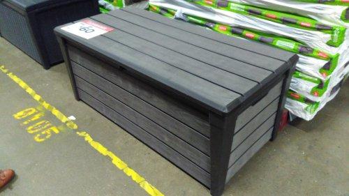 B&Q Brushwood Plastic Wood Effect Plastic Garden Storage Box 454L £60
