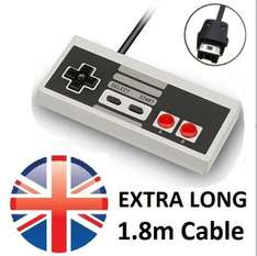 Nintendo Classic Mini 3rd Party Controller with 1.8m Cable @ csgtradinguk (ebay) - £4