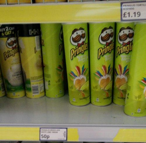 Pringles Zesty Lime & Chilli 50p @ Poundstretcher