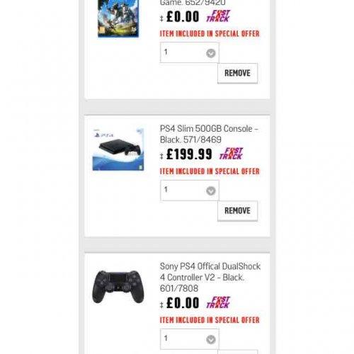 Black PS4 bundle + Horizon Dawn + Controller £199.99 Argos