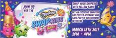 Lego, pjmasks and shopkins events - Shopkins Swap-kins party 18th March in all stores @ Smyths please read full post