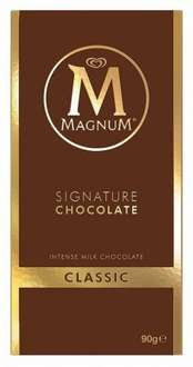 Magnum Classic Milk Chocolate Bar 95g bbe 05/18 50p in Iceland colchester