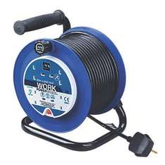 Masterplug Extension/Cable Reel 13A 4G 240V 20 Meters - Screwfix (Instore) - £14.99