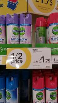 From Wilkos...Dettol all in one disinfectant spray for all around the house, hard and soft fabric surfaces - £1.75 instore