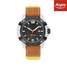 Timberland Men's Chocorua Black Dial Leather Strap Watch  £18.39  argos ebay store