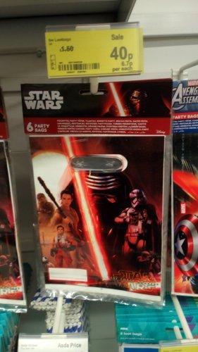Star Wars Party Bags 40p per pack instore @ Asda Toryglen