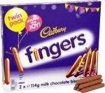 Cadbury Milk Chocolate Fingers 2 X 114G £1.24 @ Tesco